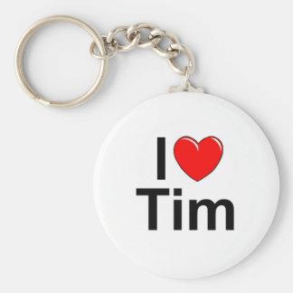 I Love (Heart) Tim Keychain