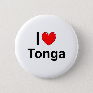 I Love heart Tonga 2 Inch Round Button