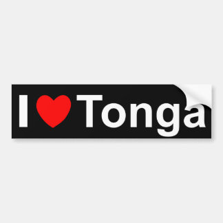 I Love heart Tonga Bumper Sticker