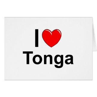 I Love heart Tonga Card