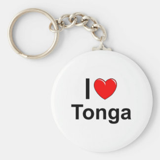 I Love heart Tonga Keychain