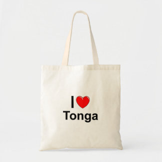 I Love heart Tonga Tote Bag