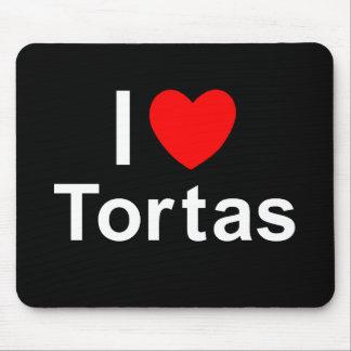 I Love Heart Tortas Mouse Pad