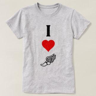 I Love (Heart) Track & Field Hermes Winged Foot T-Shirt