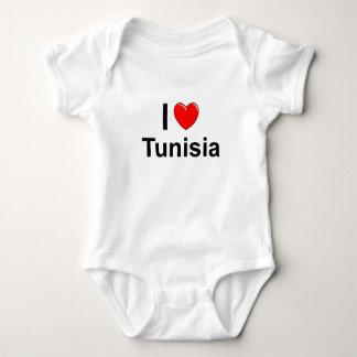 I Love Heart Tunisia Baby Bodysuit