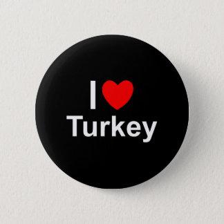 I Love Heart Turkey 2 Inch Round Button