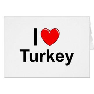 I Love Heart Turkey Card