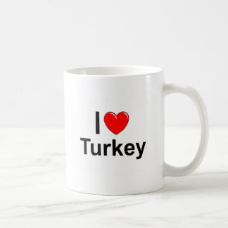 I Love Heart Turkey Coffee Mug