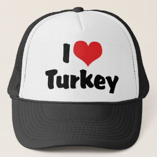 I Love Heart Turkey - Thanksgiving Meal Lover Trucker Hat