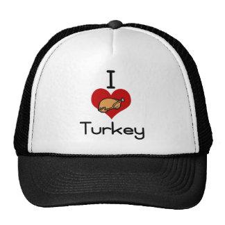 I love-heart turkey trucker hat