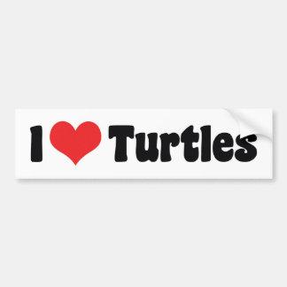 I Love Heart Turtles Bumper Sticker