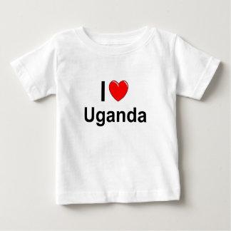 I Love Heart Uganda Baby T-Shirt