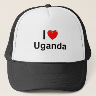 I Love Heart Uganda Trucker Hat