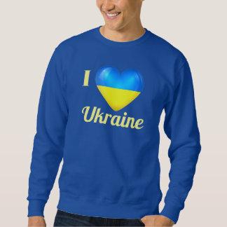 I Love Heart Ukraine Flag Dark Sweat Shirt