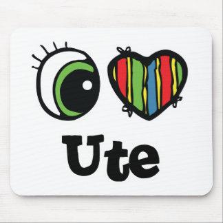 I Love (Heart) Ute Mouse Pad