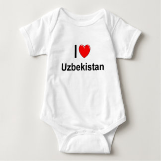 I Love Heart Uzbekistan Baby Bodysuit