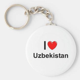 I Love Heart Uzbekistan Keychain