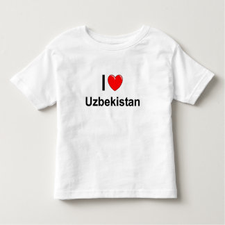 I Love Heart Uzbekistan Toddler T-shirt