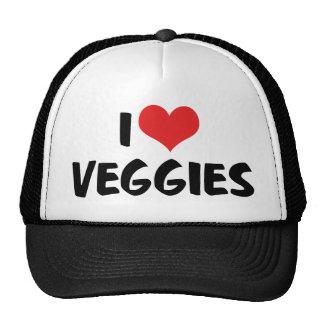 I Love Heart Veggies - Vegan Health Food Lover Trucker Hat