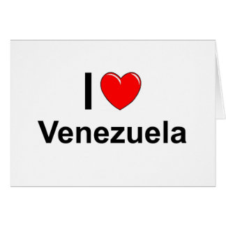 I Love Heart Venezuela Card