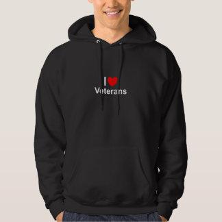 I Love Heart Veterans Hoodie
