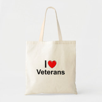 I Love Heart Veterans Tote Bag