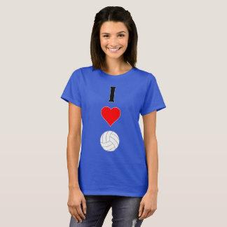 I Love (Heart) Volleyball Vertical Women's T-shirt