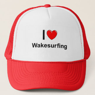 I Love Heart Wakesurfing Trucker Hat