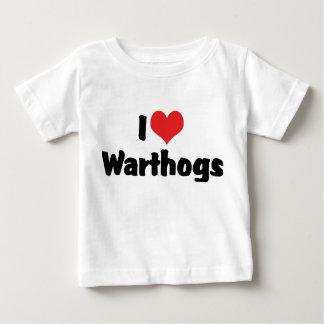I Love Heart Warthogs Baby T-Shirt