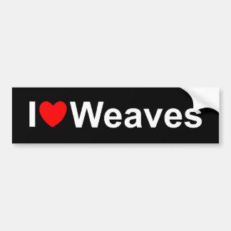 I Love (Heart) Weaves Bumper Sticker