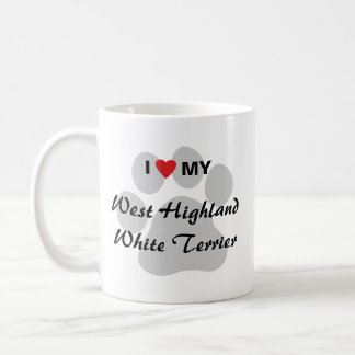 I Love (Heart) Westie Pawprint Coffee Mug