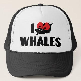 I Love Heart Whales - Whale Lover Trucker Hat