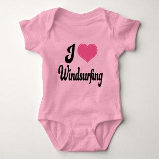 I Love (Heart) Windsurfing Baby Bodysuit