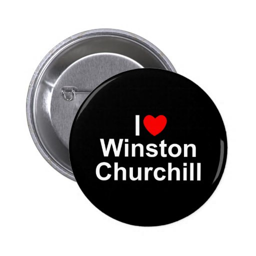 I Love (Heart) Winston Churchill Pinback Button