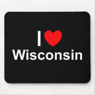 I Love (Heart) Wisconsin Mouse Pad