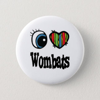 I Love (Heart) Wombats 2 Inch Round Button
