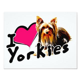 I love (heart) Yorkies Card