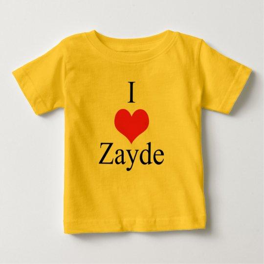 I Love (Heart) Zayde Baby T-Shirt