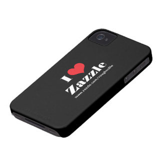 I love heart Zazzle custom to promote your store Blackberry Bold Cases