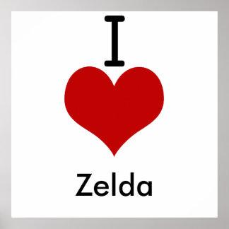 I Love (heart) Zelda Poster