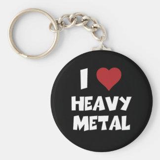 I love Heavy Metal Basic Round Button Keychain