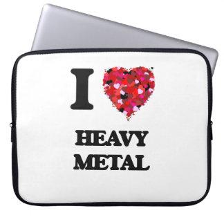I Love Heavy Metal Laptop Sleeves