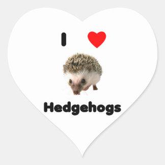 I love hedgehogs heart sticker