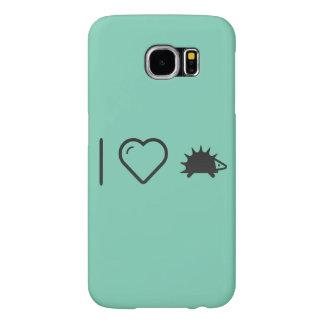 I Love Hedgehogs Samsung Galaxy S6 Cases