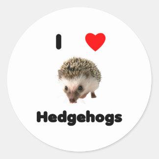 I love hedgehogs Sticker