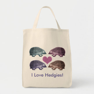 I Love Hedgies! - Four Adorable Hedgehogs Tote Bag