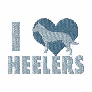 I Love Heelers Embroidered Long Sleeve TShirt