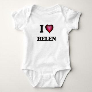 I Love Helen Baby Bodysuit