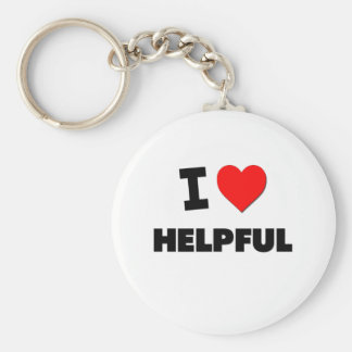 I Love Helpful Basic Round Button Keychain