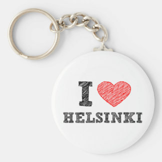 I Love Helsinki Keychain